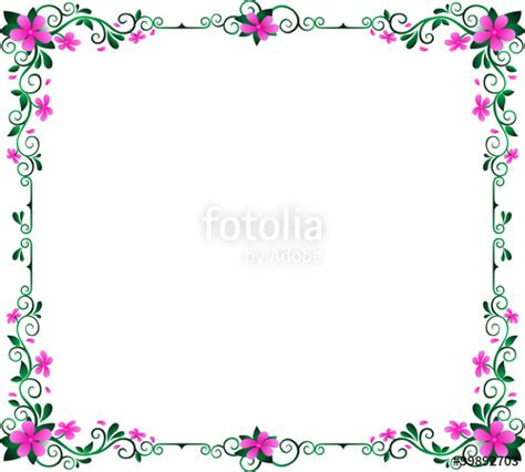 flowers frame color abstract design cute purple flowers