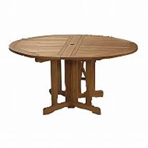 Table De Jardin Ronde En Bois : table ronde jardin pliante en bois d 39 acacia taylor achat ~ Dailycaller-alerts.com Idées de Décoration