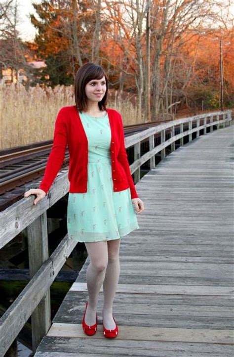 Picture Of With red jacket and red flats