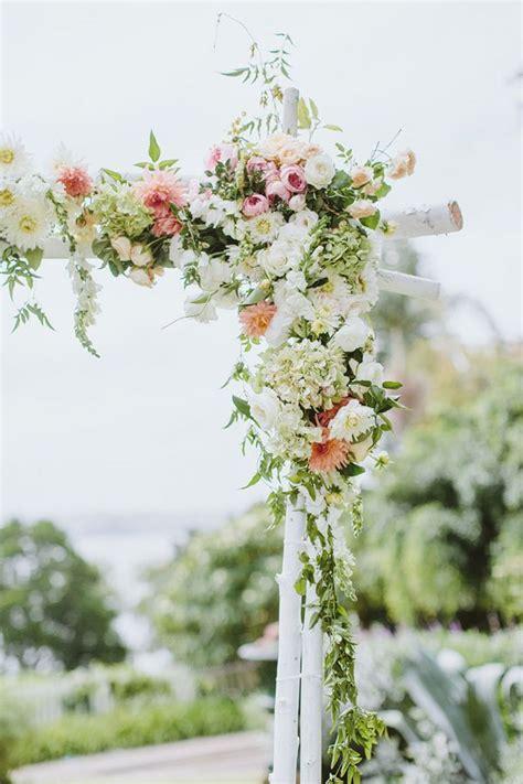Flower Filled Bohemian Australian Wedding Ceremony Arch