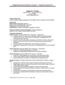Education No Degree Resume by Resume Templates For Masters Program Resume Templates 2017