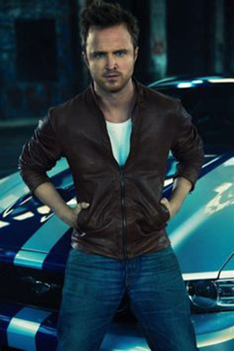aaron paul in need for speed need for speed aaron paul movie brown leather jacket
