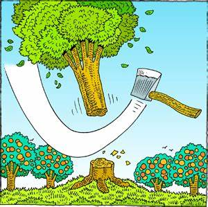 Chopping Down Tree Clipart