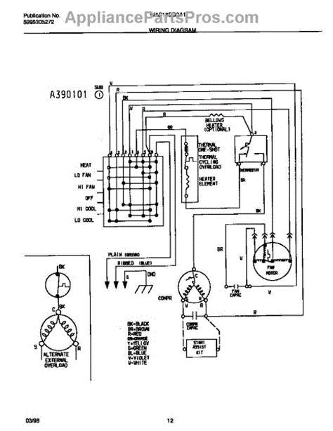 parts for frigidaire was18eg2a1 wiring diagram parts appliancepartspros