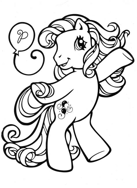 pony coloring page mlp pinkie pie cool
