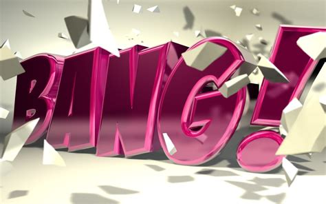 c4d quot bang quot typography by b4ddy on deviantart