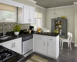 peinture cuisine 40 idees de choix de couleurs modernes With cuisine peinte grise