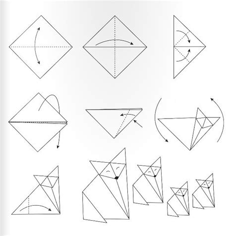 origami fuchs anleitung origami fuchs falten dekoking diy bastelideen dekoideen zeichnen lernen