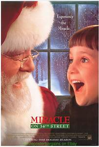MIRACLE ON 34TH STREET MOVIE POSTER DS 27x40 ORIGINAL 1994 ...