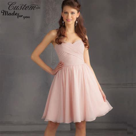 light blush pink dress online buy wholesale knee length light pink bridesmaid