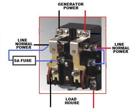 power relay transfer switch wiring doityourselfcom