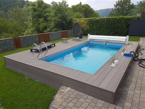 future pool power  stone rechteck pool guenstig kaufen