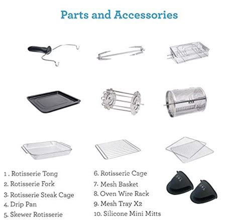 fryer air yedi oven accessory kit package total quart deluxe xl