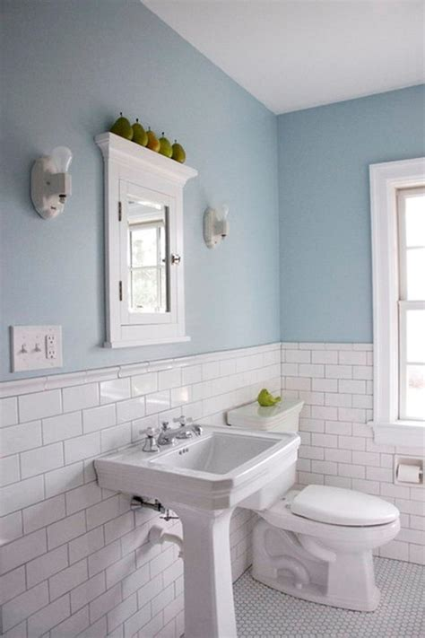 Light Blue Subway Tile Bathroom by Light Blue And White Tile Pretty Potty Parlors