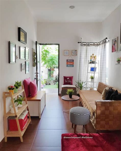 living room area imut  sederhana tempat canda tawa
