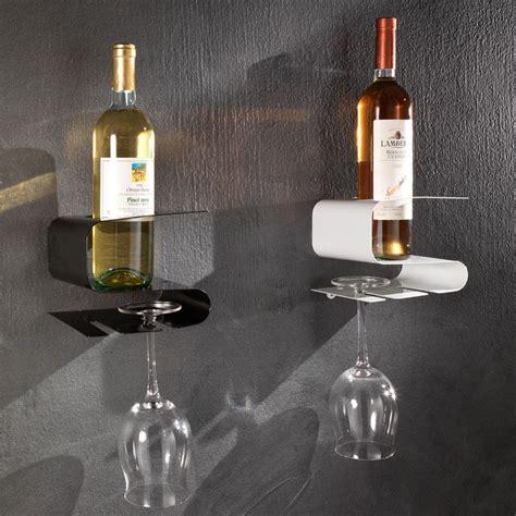 rastrelliera porta bicchieri cantinetta a muro portabottiglia e bicchieri in metallo oscar
