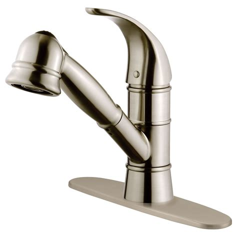 kitchen faucet finishes lk14b pull out kitchen faucet brushed nickel finish