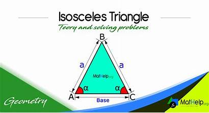 Triangle Isosceles Definition Geometry Perimeter Triangles Altitude