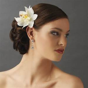 Realistic Looking Bridal Orchid Flower Hair Clip Clip 400