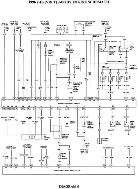 chevrolet cavalier 2 4 986 cavalier 2 4 1996 diagramas