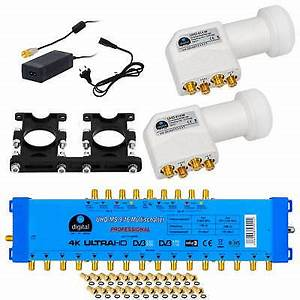 Quattro Lnb Multischalter : pmse multischalter multiswitch 9 16 9x16 2 sat quattro ~ Watch28wear.com Haus und Dekorationen