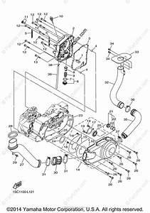 Yamaha Atv 2013 Oem Parts Diagram For Crankcase Cover  1