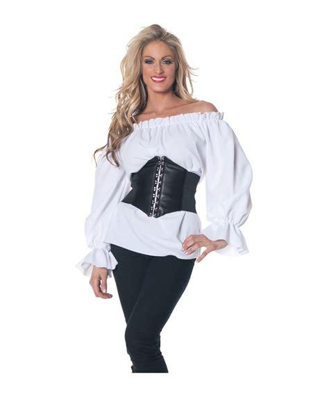 womens white blouses renaissance white blouse womens costume costume