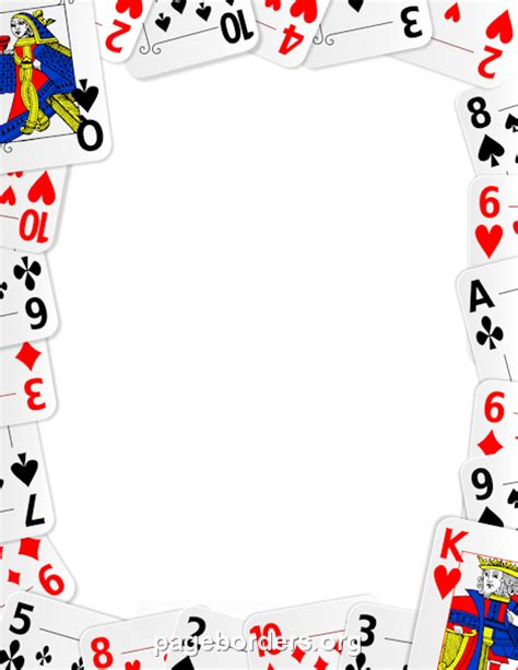 playing card border clip art page border  vector