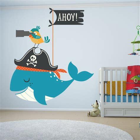 Wandtattoo Kinderzimmer Junge Piraten by Piratenzimmer Piraten Wandaufkleber Wal Und Papagei Tier
