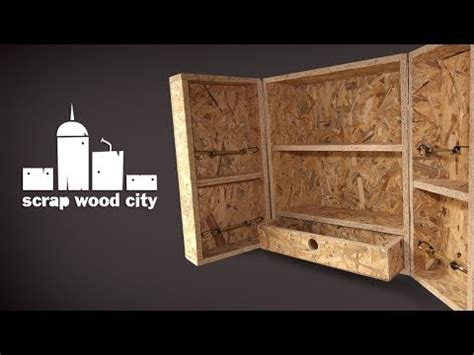 diy osb hanging cabinet quick  dirty youtube