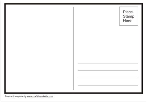 free postcard templates for post card template sles and templates