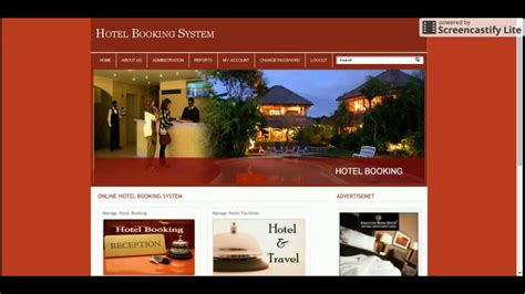 Php And Mysql Project In Hotel Booking System