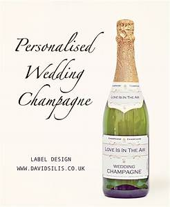 personalised wedding champagne labels professional With champagne bottle stickers
