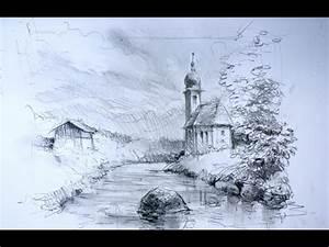 Zeichnen Lernen Mit Bleistift : landschaft zeichnen ganz einfach zeichnen lernen 15 youtube ~ Frokenaadalensverden.com Haus und Dekorationen