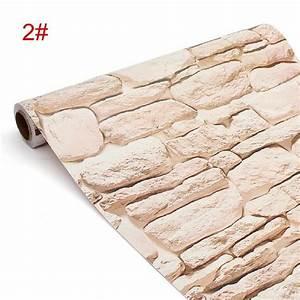 Papier Peint Brique Relief : 45cm 10m 3d effet papier peint brique mural autocollant ~ Dailycaller-alerts.com Idées de Décoration