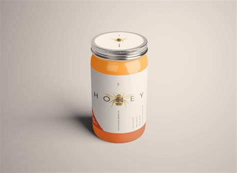 The file consists of smart objects. Standard Glass Jar Mockups