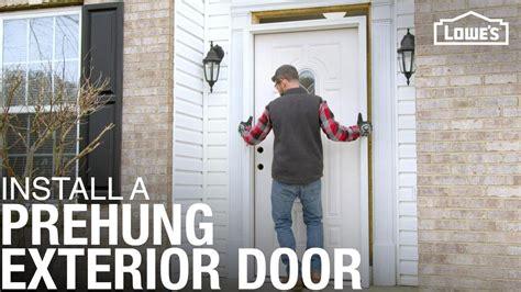 install  prehung exterior door youtube