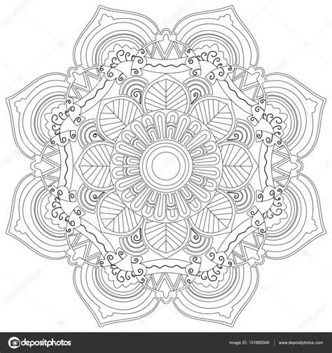 Volwassenen Kleurplaat Mandala Vlinder by Mandala Bloem Vector Kleurplaten Voor Volwassenen