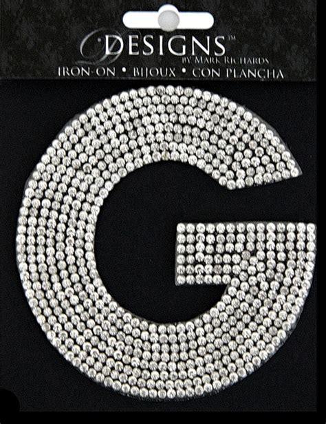 designs iron ons monograms rhinestone applique monogram letter  clear