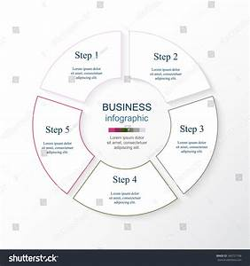 Circle Line Infographic Template Cycle Diagram Stock