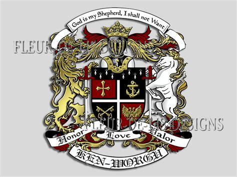 design a family crest fleur de lis designs custom crests logos and coats of