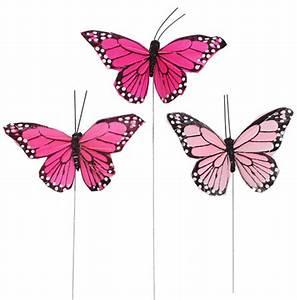Schmetterling Am Kinderbett : deko schmetterlinge ton in ton rosa pink 9 cm am draht 3er ~ Lizthompson.info Haus und Dekorationen