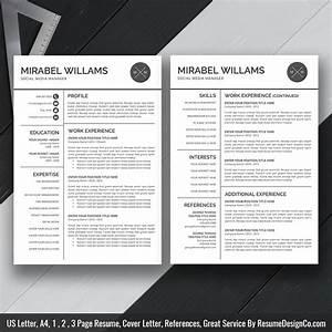 Clean Resume Template Ms Word  Simple Curriculum Vitae