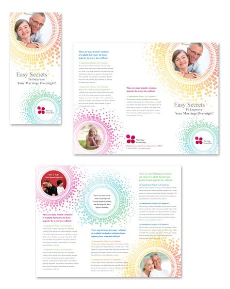 Counseling Brochure Templates Free by Marriage Counseling Tri Fold Brochure Template