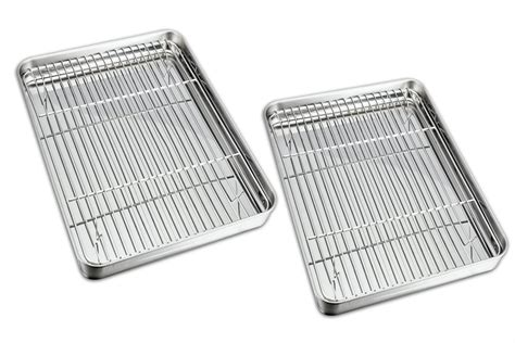 oven baking sheet rack safe cooling cookie pan stainless steel pans