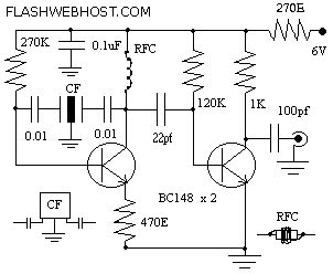 Radio Circuits Blog Ceramic Filter Beat Frequency Oscillator