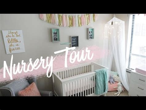 Nursery Tour  Baby Girl's Room + Diy Decor  Raven Elyse