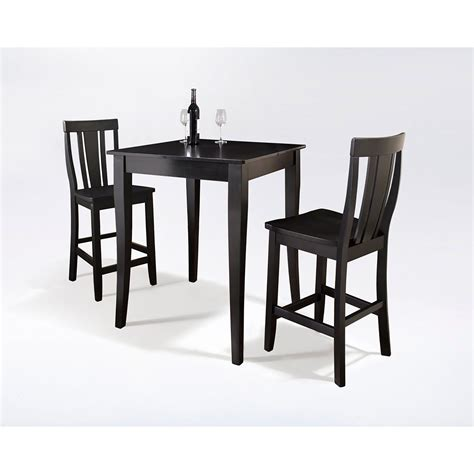 3piece Pub Dining Set, Black *d  Kd320002bk Crosley