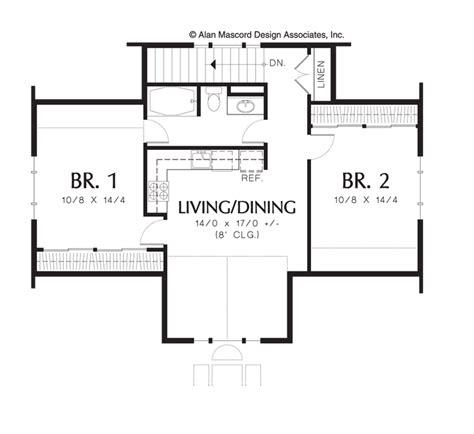 2 Bedroom Backyard Cottage Plans House Backyards