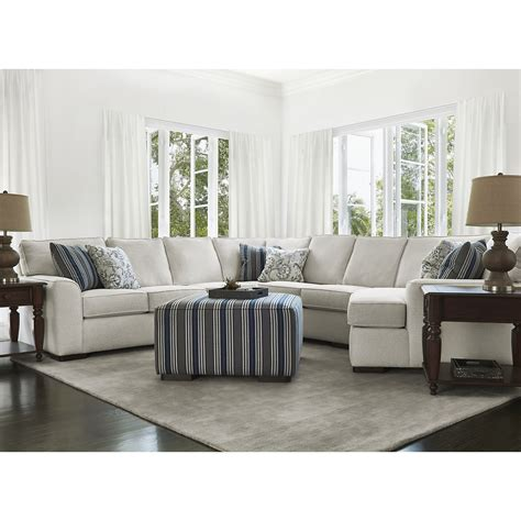 austin white fabric small  cuddler sectional